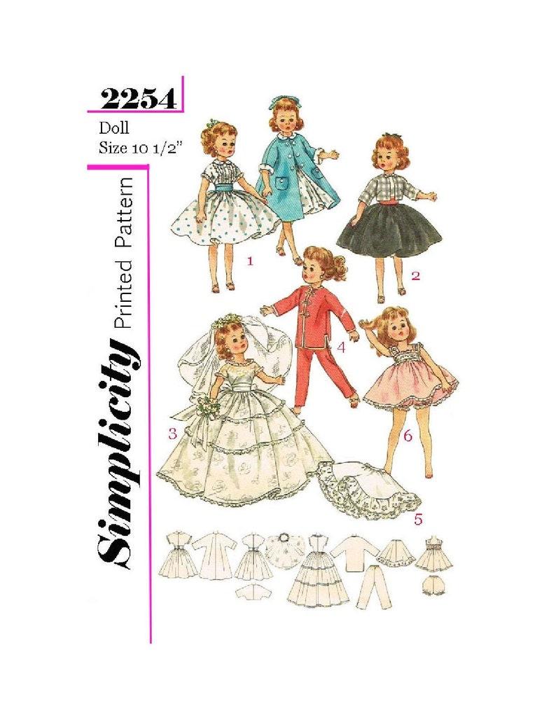 "Toni Vtg 50s 10.5/"" Doll Clothes WARDROBE Pattern Little Miss Revlon Cissette"