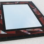 "16"" x 20"" Burgundy Maroon Blood Red Mosaic Mirror"