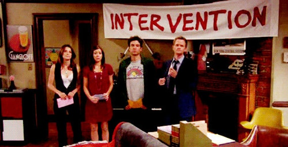Intervention Banner As Seen On How I Met Your Mother Hanging Etsy