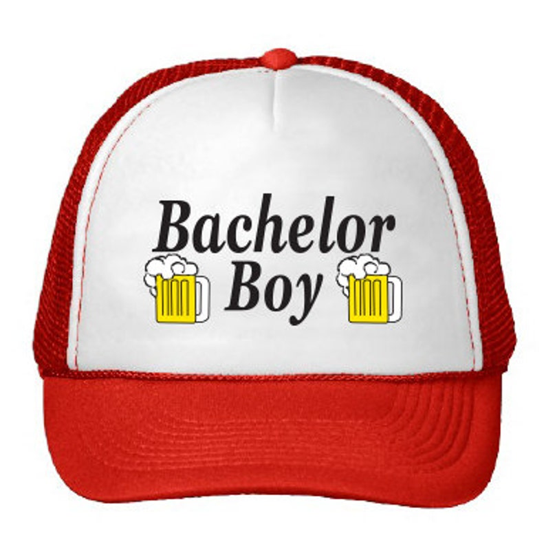 c05267e1905b0 Bachelor Boy Trucker Hat as seen on Parks and Recreation