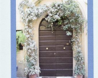 Blue Ivy Doorway Siena Italy  Blank Note Card