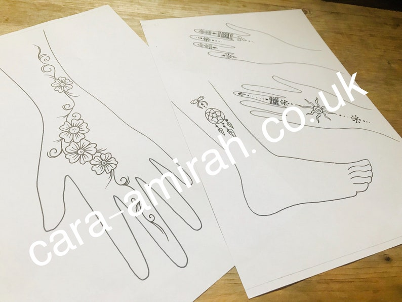 14f1c72bc AMIRAHS HENNA DESIGNS Book over 30 Easy Quick Henna pattern   Etsy