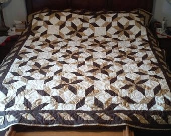 "Queen size quilt ""Road through Oklahoma"""
