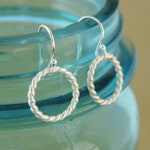 Tiny Sterling Silver Hoop Earrings -- Bright or Oxidized Silver -- Simple Silver Earrings