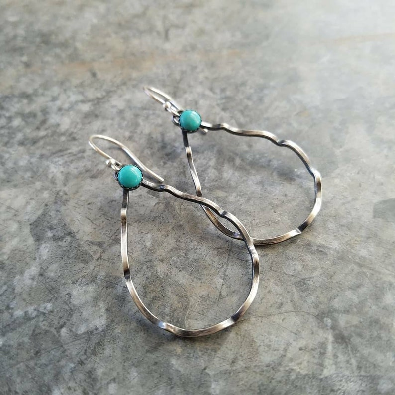Della  Sterling Silver and Turquoise Earrings  Kingman image 0