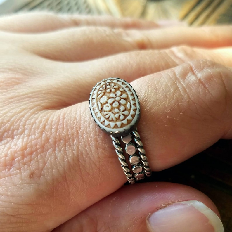 Morgan  Oxidized Sterling Silver Stack Ring or Set  image 0