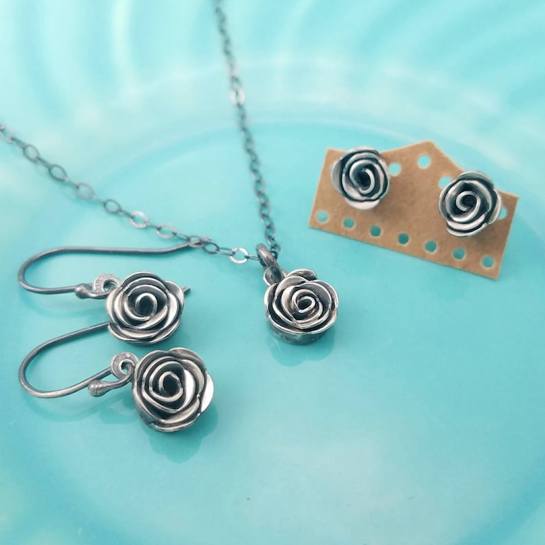 Luckstruck Signature Silver Roses  Handcrafted  Sterling image 0