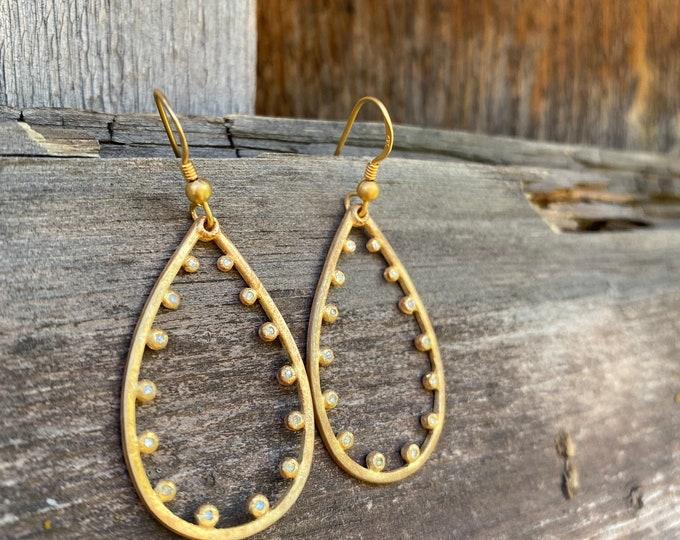 Diamond & Gold Vermeil Earrings