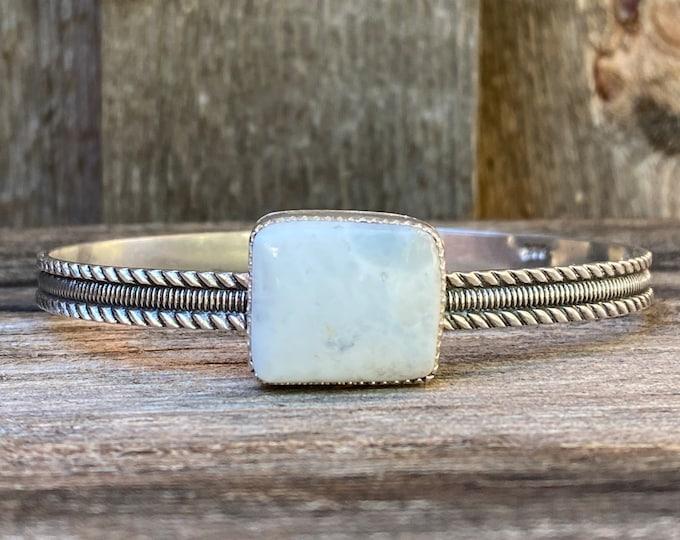 White Buffalo Turquoise Cuff Bracelet