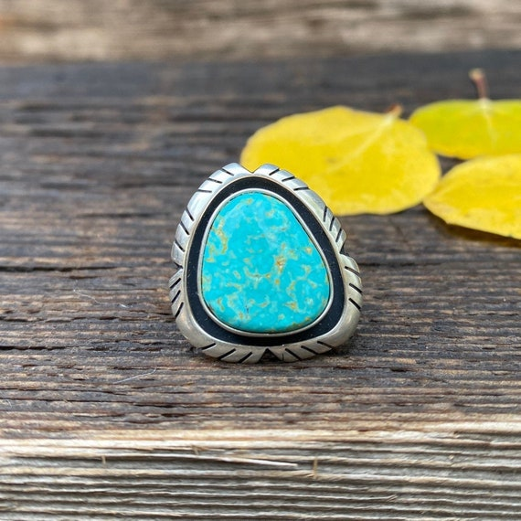 Turquoise Ring with adjustable band