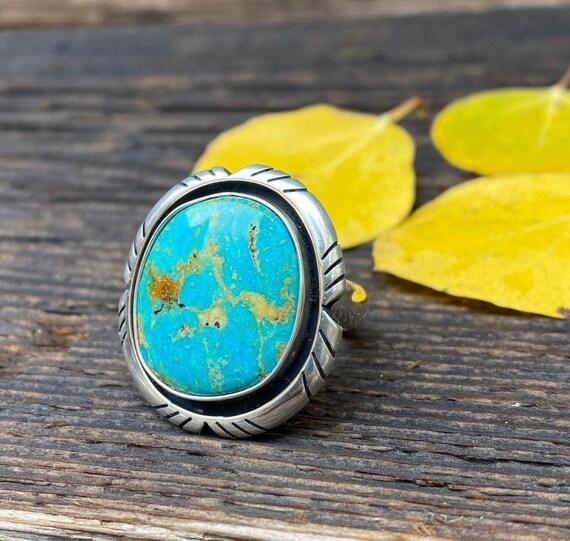 Kingman Turquoise Ring with adjustable band