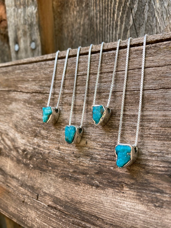 Turquoise & Sterling Silver Slider Pendant