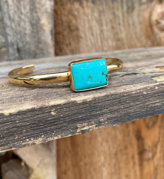 Turquoise Cuff Bracelet gold