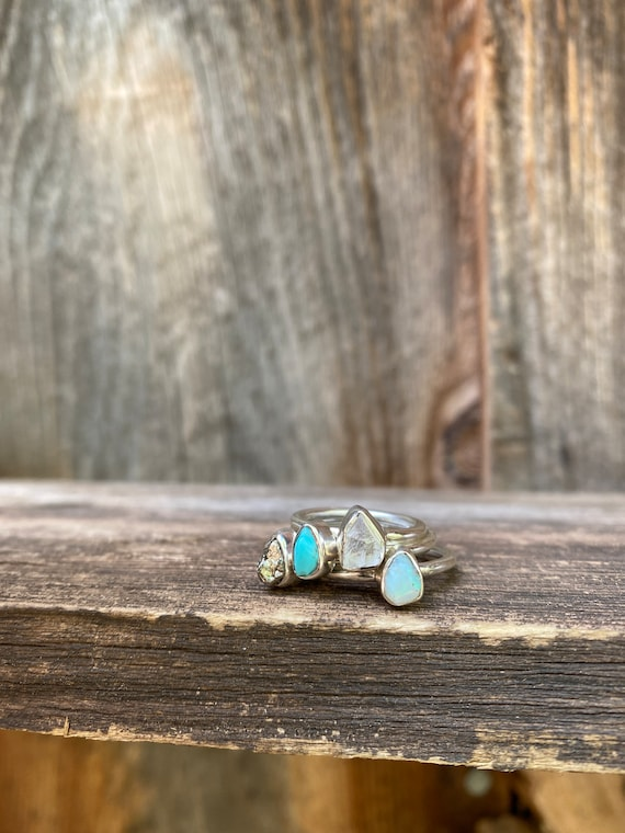 Stackable rings: set of THREE