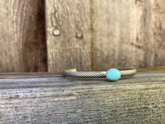 Arizona Turquoise & sterling silver cuff bracelet