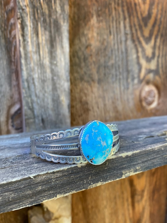 White Water turquoise cuff bracelet