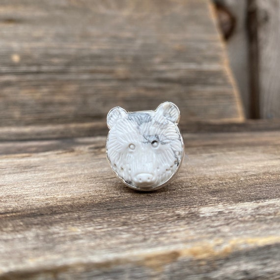 Bear Magic Ring .925 Silver or Brass Adjustable Band