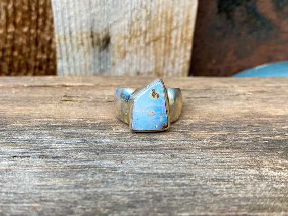 Opal & Sterling Silver Ring Size 7