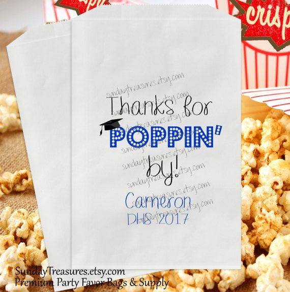 10 pak thanks for poppin by favor bags 10 pak 6x9 5x7 etsy