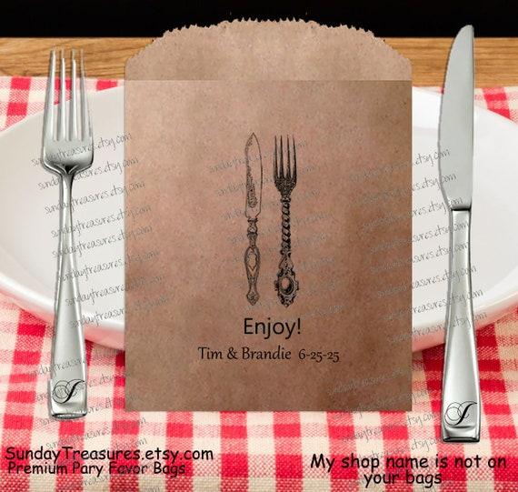 20 pak 5x7 6x9 fork knife utensils silverware cutlery holder etsy