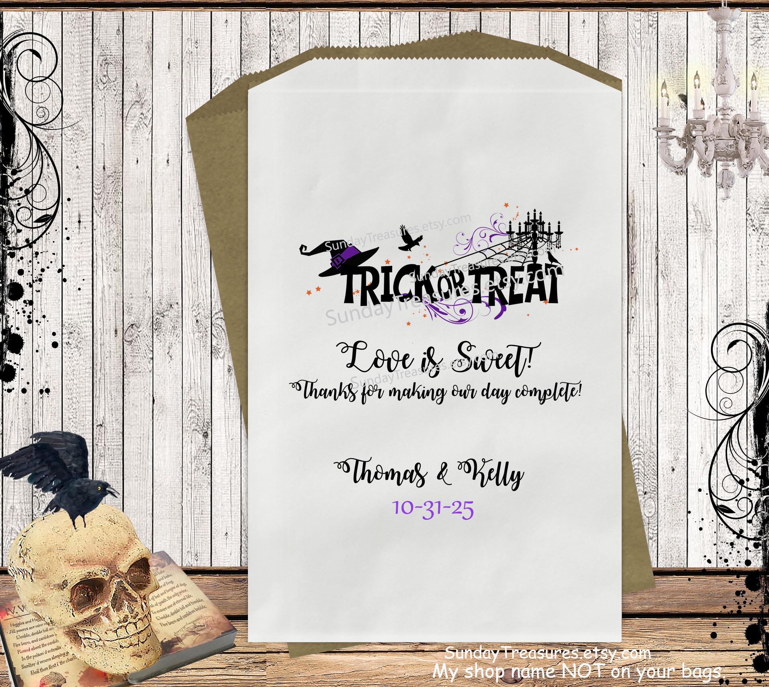 Halloween Wedding Gift Ideas: QTY 30 Halloween Wedding Candy Buffet Favor Gift Bags