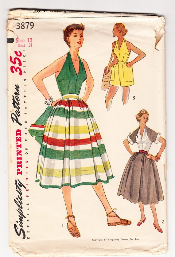 Vintage 1952 Simplicity 3879 Sewing Pattern Misses\' Skirt | Etsy