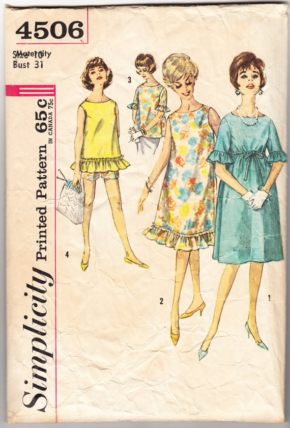 3353bddd6ad Vintage 1962 Simplicity 4506 Sewing Pattern Maternity