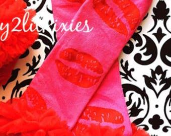 Valentines leg warmers. Lip leg warmers, leg warmers , baby girl , girl, infant , leg warmers