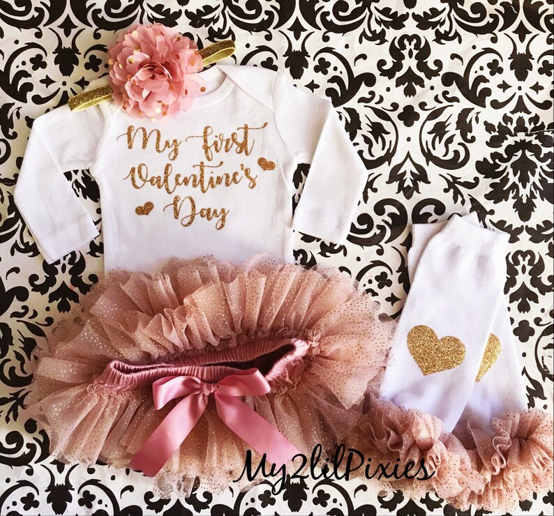 cc56c5679 My First Valentines Day Baby Girl Bodysuit Valentines outfit