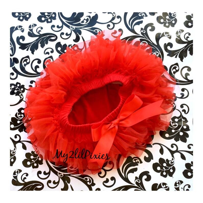 Red headband red flower headband newborn tutu RED TUTU Bloomer and Baby Girl HEADBAND Set- Red Bloomer all around ruffles