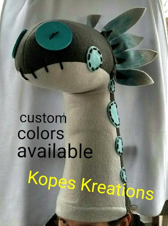 Inspired by WIGGLER HEAD Armor Monster Hunter World MHW Cosplay Hat with  Face Cover Scarf Custom Colors Plush