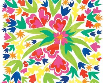 Cut Paper Bouquet Gicleé Print