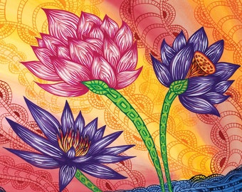 Waterlilies Gicleé Print