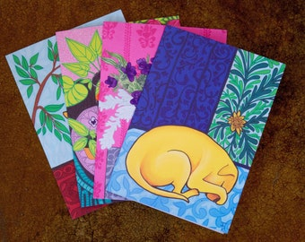 4 Pack Greeting Cards