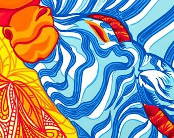11x14 Zebra Giclée Print