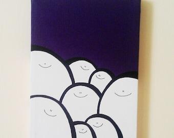 Acrylic Painting On Canvas - Original - Cheps - Purple Version