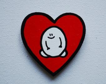 Magnet - Chep Love Heart - Original Wooden Painted Heart