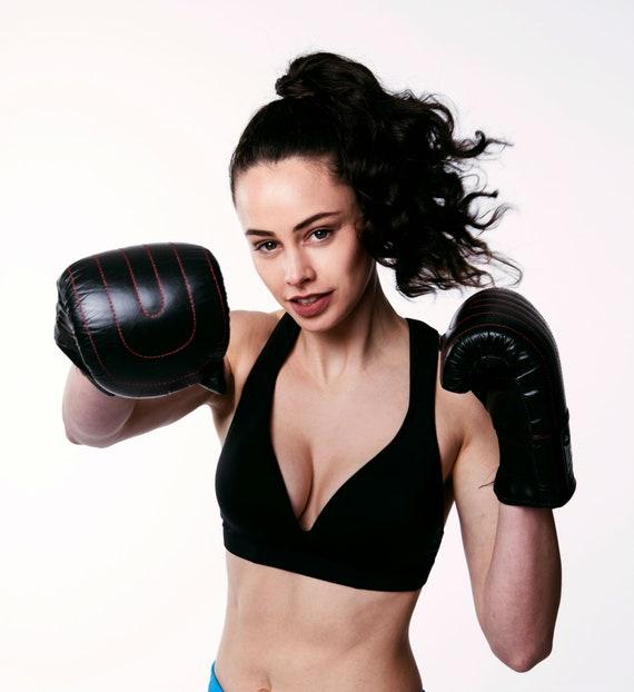 72ffdeb493cad Leilani Black Sports Bra GymToSwim® collection by RubyMoon
