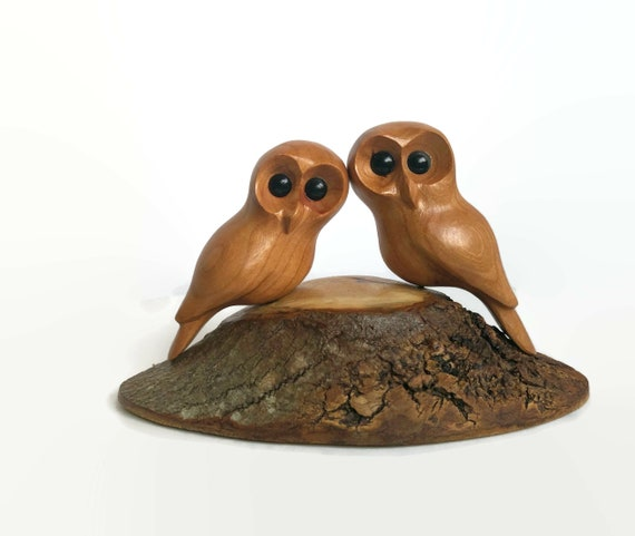Owls, Christmas gifts for him, romantic gifts for her, wedding Anniversary gifts, wood carving