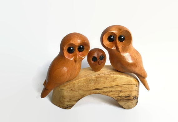 Owl family of 3, anniversary gifts for wife, new baby gift for couple, baby's 1st Christmas, gift for new parents