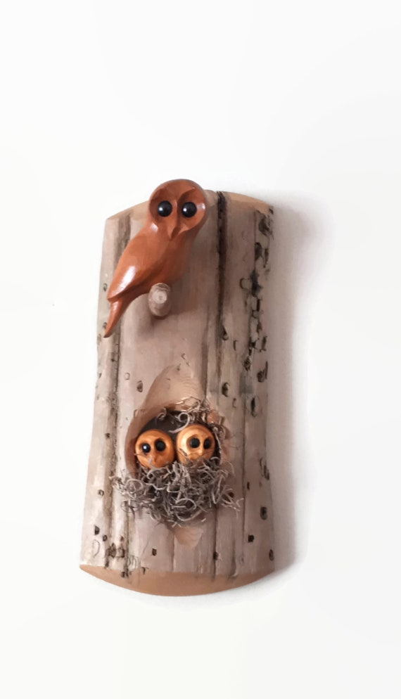 Mother's day gift, mom of 2 gift, owl art, unique gift
