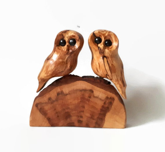 Wedding gift for couple owl wood carving anniversary gift for her anniversary for him 5th anniversary gift rustic wood owls romantic gift