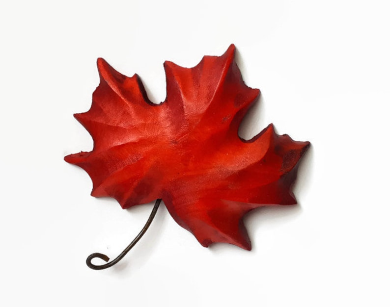 Maple leaf gift from canada handmade red maple leaf wall etsy