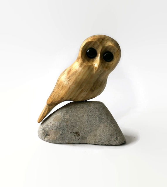 Owl art, unique gift for her, gift for him, gift for teen, woodland nursery decor, wood owl carving