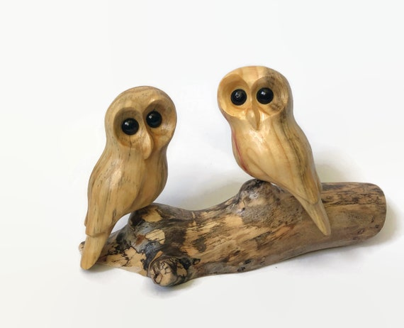 Anniversary gifts for husband, owl gifts for wife, couple gift, wood carving, personalized optional
