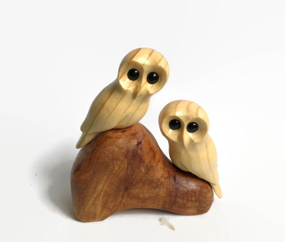Anniversary gifts for him, owl gifts for wife, couple gifts, wood carving