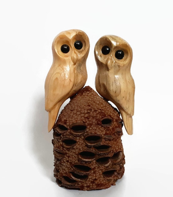 Owls, Wood sculpture, Gift for Her, Anniversary Gift for Him, Owl Wood Carving, Unique Wedding gift
