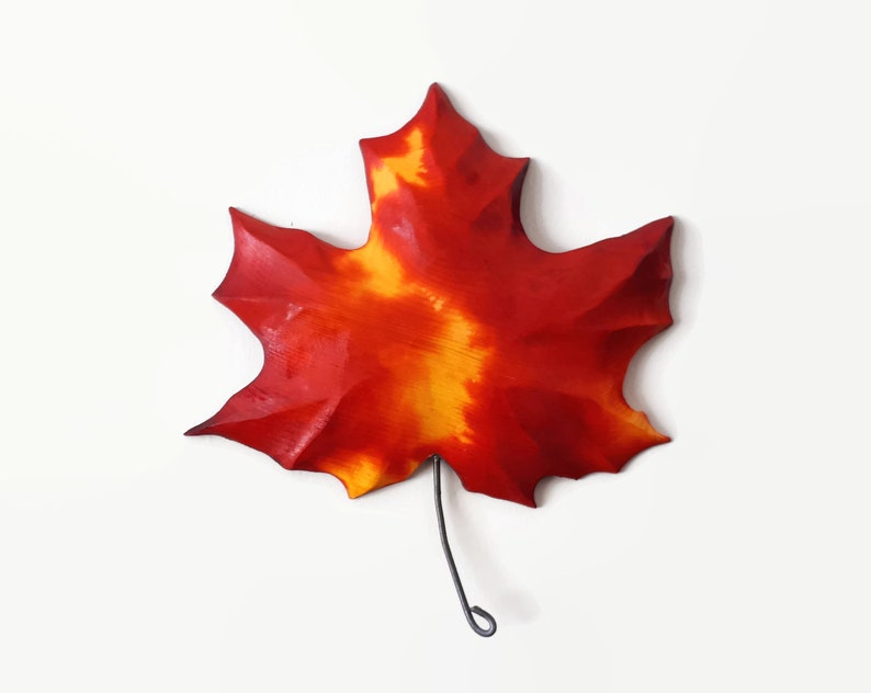 Maple leaf wood carving handmade gift from canada indoor or etsy