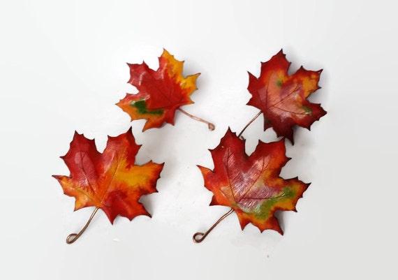 maple leaf napkin rings fall wedding decor fall wedding etsy