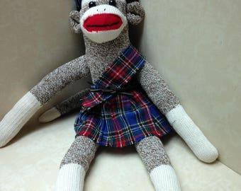 ANATOMICALLY CORRECT Scottish Sock Monkey